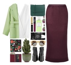 """PURPLE AND GREEN"" by kawrose02 ❤ liked on Polyvore featuring Nak Armstrong, Band of Outsiders, Barbara Casasola, Lanvin, Marni, Hermès, Holly's House, Royce Leather, Yves Saint Laurent and NARS Cosmetics"