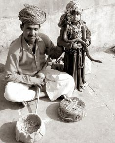 Child and Snake....Touching the nature.. Jaipur , India., indian culture #india #culture #indianculture #streetplay