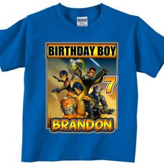 Star Wars Rebels Birthday boy Shirt - Personalized, Custom