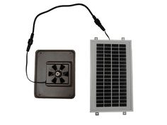 """Dog House Solar Fan   Fido needs to stay cool during those """"dog days"""" of summer as well."""