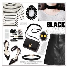 """""""Black Chokers"""" by soygabbie ❤ liked on Polyvore featuring Alexander Wang, Sinclair, 3.1 Phillip Lim, Fendi, Bobbi Brown Cosmetics, Dansk, Laurence Llewelyn-Bowen, Elle Macpherson Intimates, contestentry and polyvorecontest"""