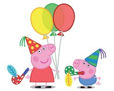Kids Party Land: Peppa Pig Party Supplies and Ideas Invitacion Peppa Pig, Cumple Peppa Pig, Pig Cupcakes, Pig Cookies, Peppa Pig Images, Peppa Pig Pictures, Peppa Pig Printables, Free Printables, Peppa Pig Cookie