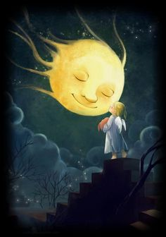 sun moon star :: kissing the moon goodnight <3