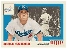 2016 Topps Now #TBT Week #4 Card # 22 Throwback Thursday Duke Snider Dodgers #LosAngelesDodgers