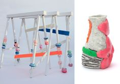 #SpringSummer2013 #SS13 #Repair #Trend #Architecture #Interiors #Furniture #Report by #TheTrendBoutique #MacroTrends Left: Swivel Trestle by Pia Wüstenberg Right: Wonky Pot by Vanja Bazdulj