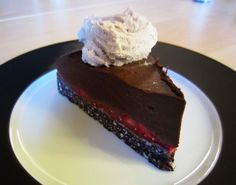Strawberry Chocolate Fudge Torte w/ Sun Butter Mousse  (6 hrs of prep, but it looks friggin' delicious) (Paleo)