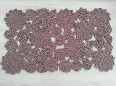 Stylish rug Freeform crochet rug irish crochet Indoor rug