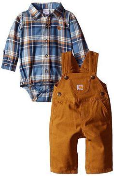 Carhartt Baby Boys' Lumberjack Overall Set, Dye, 9 Months