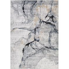 17 Stories Bach Abstract Gray Area Rug & Reviews | Wayfair Coastal Rugs, Coastal Style, Black Rug, Black And Grey, Dark Blue, Grey Rugs, Blue Rugs, At Home Store, Shades Of Grey