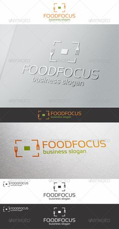 Food Focus Logo Design Template Vector #logotype Download it here: http://graphicriver.net/item/food-focus-logo-template/6508292?s_rank=1594?ref=nexion