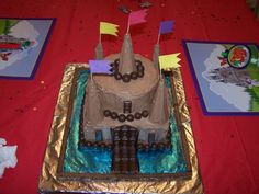Boy's Castle Cake 4th Birthday Parties, Boy Birthday, Kid Parties, Birthday Stuff, Birthday Cakes, Birthday Ideas, Happy Birthday, Grave Digger Cake, Party Food Themes