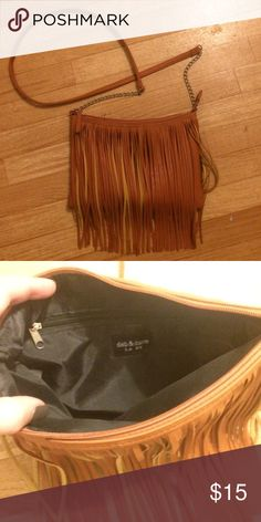 NWOT fringe cross-body purse New without tags. Brand is Deb & Dave.  No trades. Bags Crossbody Bags