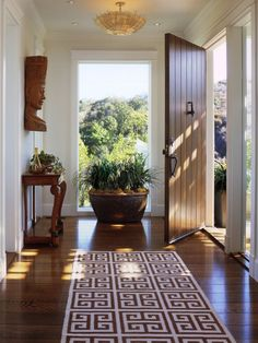 Gorgeous floors and door.