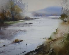 Ilya Ibryaev   - Autumn morning - watercolor 54х43 cm