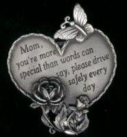 Mom Heart Visor Clip  $6.00 #VisorClip  #heart #mom https://www.angeldesignsbydenise.com/category.php?ct=0&id=15