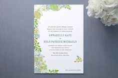 Wedding invite from Minted - love the natural colors