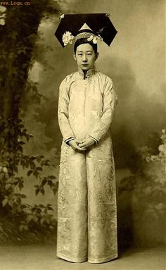Portrait of a Manchurian Noblewoman in the 1920's. This is believed to be the sister of the last Emperor, Puyi.