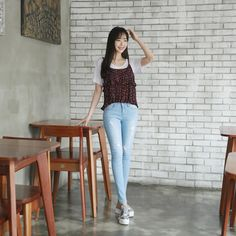 #envylook Tiered Floral Bustier Top #koreanfashion #koreanstyle #kfashion #kstyle #stylish #fashionista #fashioninspo #fashioninspiration #inspirations #ootd #streetfashion #streetstyle #fashion #trend #style