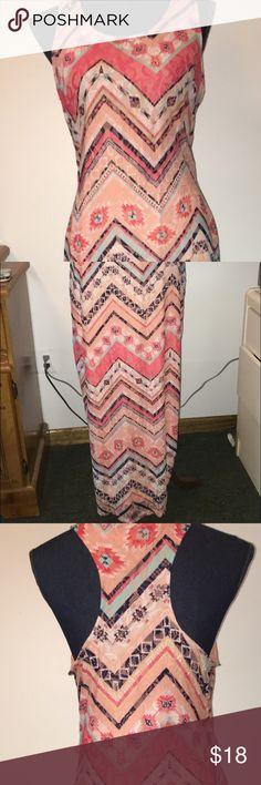 Tribal print racer back maxi dress Stunning tribal maxi dress. #lace #tribal #maxidress #dress #tribalprint #racerback Derek Heart Dresses Maxi