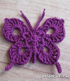 Бабочка крючком, схема