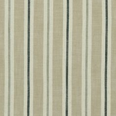 Sackville Stripe Natural Fabric by Clarke & Clarke Roman Blinds, Curtains With Blinds, Clarke And Clarke Fabric, Painted Rug, Made To Measure Curtains, Fabric Houses, Patterns In Nature, Striped Fabrics, Curtain Fabric