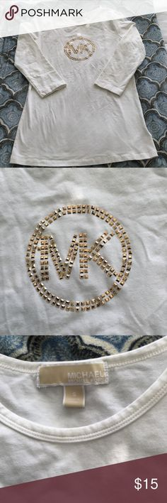 Michael Kors 3/4 Length shirt! Stretchy and very comfortable ! Michael kors 3/4 shirt!! Michael Kors Tops Tees - Long Sleeve