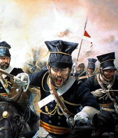 Charge of the Light Brigade- British 17th lancers at the Battle of Balaklava, Crimean War.