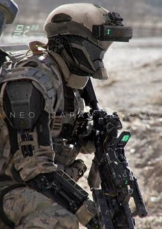 Neo Japan 2202 futuristic soldier - by Johnson Ting