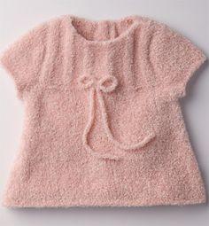 tricoter une tunique fillette