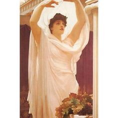"""Buyenlarge 'Invocation' by Frederick Leighton Painting Print Size: 42"""" H x 28"""" W x 1.5"""" D"""