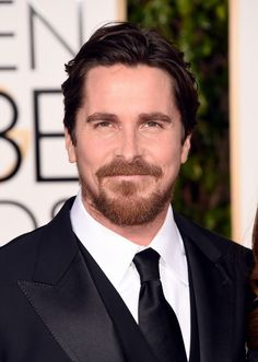 Christian Bale at the Golden Globes in Beverly Hills, California 1.10.16