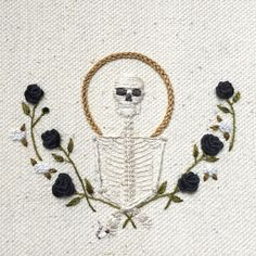 Thrilling Designing Your Own Cross Stitch Embroidery Patterns Ideas. Exhilarating Designing Your Own Cross Stitch Embroidery Patterns Ideas. Hand Embroidery Patterns, Embroidery Art, Cross Stitch Embroidery, Cross Stitch Patterns, Embroidery Designs, Cross Stitch Skull, Ribbon Embroidery, Halloween Embroidery, Embroidery Techniques