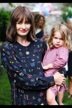 Emily Mortimer with daughter May her second child with actor Alessandro Nivola