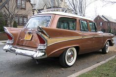1958 Packard station wagon also know as the 'Packardbaker' following the merger of Packard and Studebaker