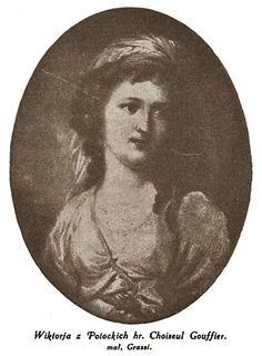 И.Грасси.  Портрет Виктории Потоцкой (1780 - 1826), дочери Станислава Щенсны Потоцкого (1752 - 1805) от его 2-го брака с Юзефиной Амалией Мнишек (1752 - 1798). В 1-м браке Шуазель Гуфье, во 2-м браке Бахметева.
