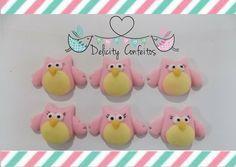 Confeito/Aplique açúcar  Corujimhas, para enfeitar doces.. http://www.elo7.com.br/confeito-courjinhas/dp/5D66ED