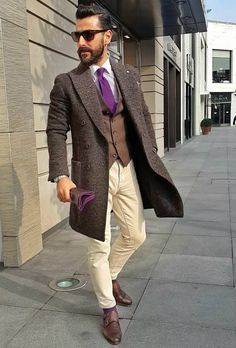 Purple tie #mensfashion