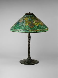 Lamp made by Tiffany Studios between 1902 and 1918 with lead and glass   (The Metropolitan Museum of Art, i.e. The Met Museum, 2017)