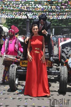 Amy Jackson Singh In the Swatee Singh jumpsuit