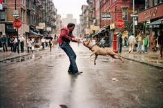 """Man and Dog"", Lower East Side, 1980"