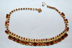 Vintage / Amber / Large / Necklace / by AmericanHomestead on Etsy