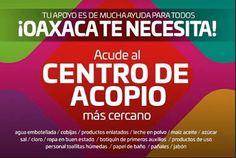 CENTROS DE ACOPIO PARA AFECTADOS POR EL SISMO EN CHIAPAS Y OAXACA