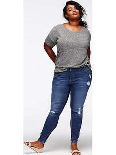 Women's Plus Size Clothes: Featured Outfits Outfits We Love College Casual, Look Retro, Low Rise Skinny Jeans, Shop Old Navy, Old Navy Women, Plus Size Fashion, Spring Fashion, Going Out, Cat Lady