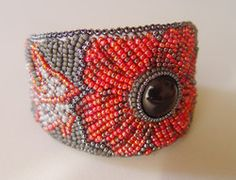 Poppy Fields cuff bracelet