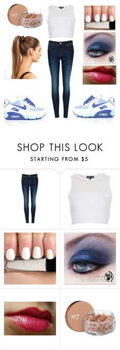 """""""Outfit. #002"""" by cacamac ❤ liked on Polyvore featuring Ted Baker, Topshop, NIKE, Venom, Boots No7, Mimco, eyeshadow, shoes and nike"""
