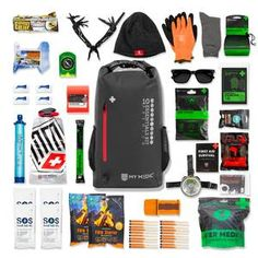 Essential First Aid Kit, Survival First Aid Kit, Survival Kit, Emergency Supplies, Emergency Preparedness, 10 Essentials, Survival Blanket, Thing 1, Fire Starters