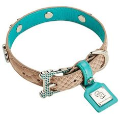 Chrome Bones Mojave LTD Pet Collar, X-Small, Tan/Blue *** Find out more about the great product at the image link.