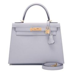 e7b8295fc612 Hermes Blue Glacier Epsom Sellier Kelly 28cm Gold Hardware Hermes Purse
