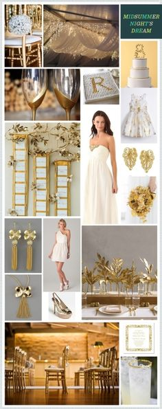 Midsummer Night's Dream: White+Gold #color #palette by imelda