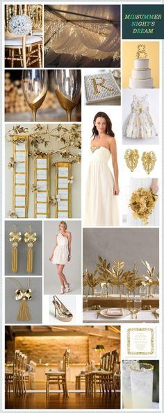 Midsummer Night's Dream: White+Gold #color #palette by imelda
